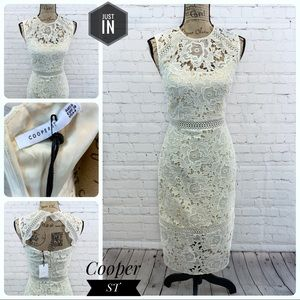🆕Cooper ST High Neck Lace Cream Dress Size 4